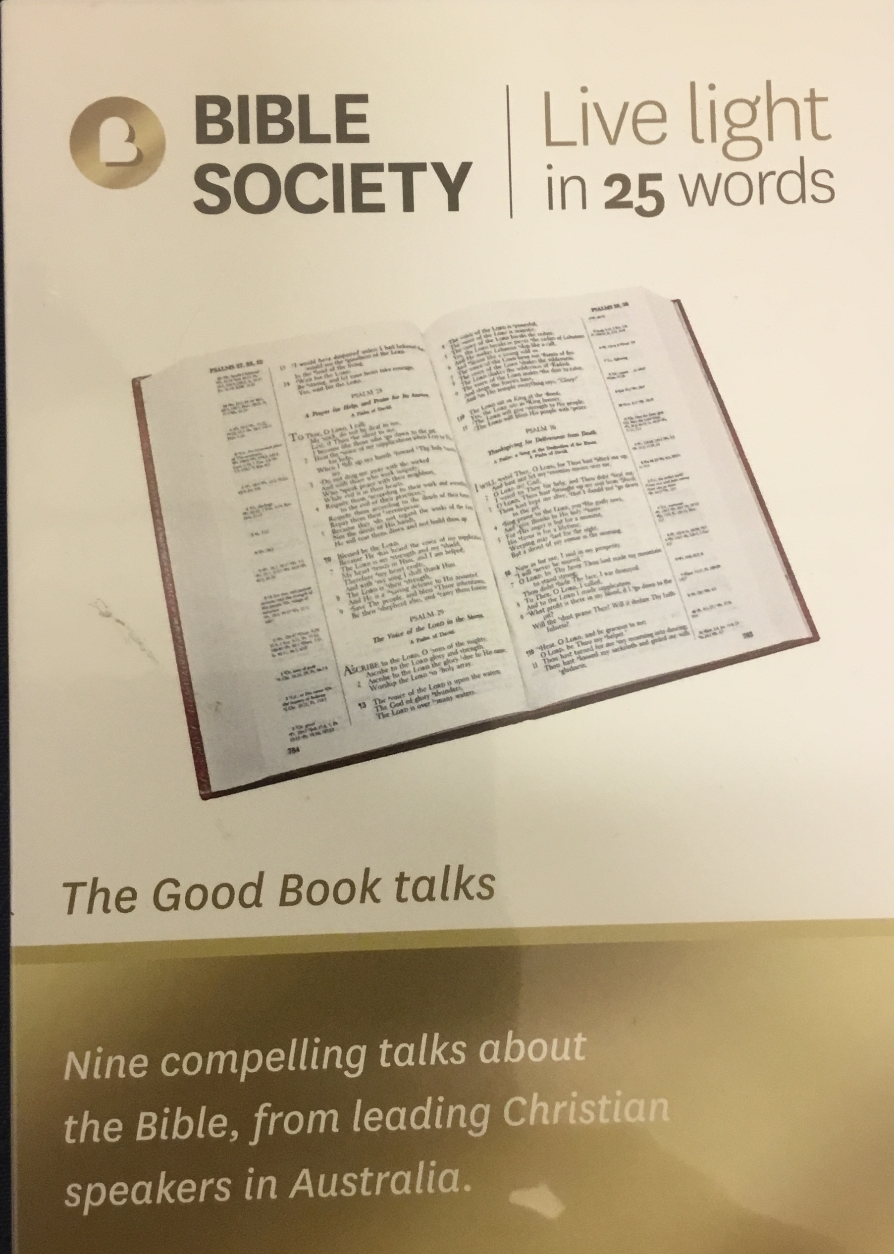 The Good Book talks