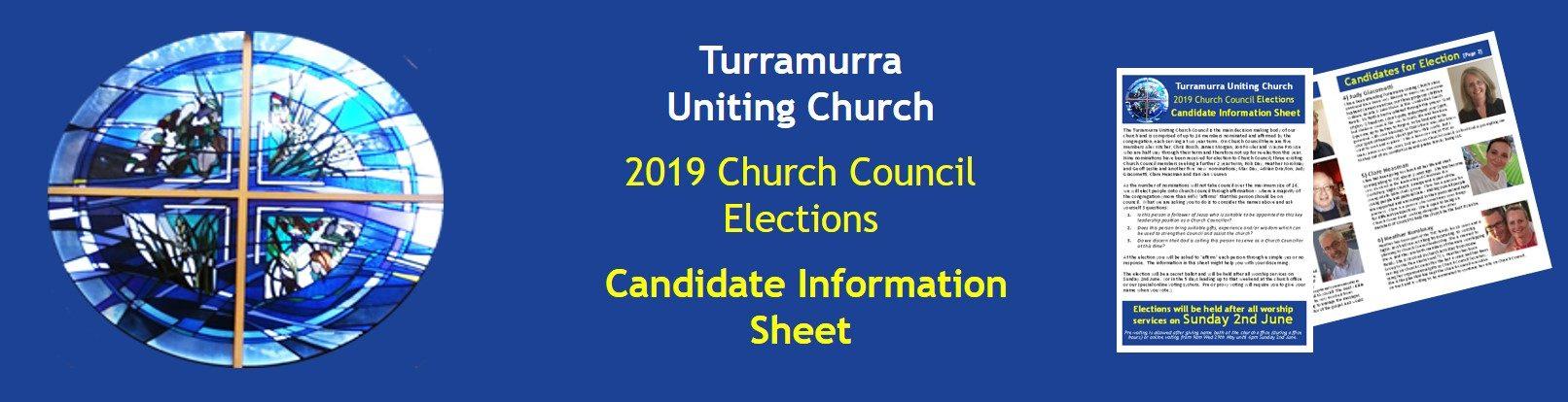 2019 Church Council Election Information Sheet